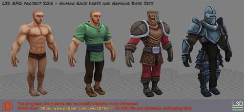 Human Dress/Armour Set