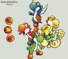 The Super Mario World Yoshies