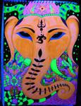 Ganesh psyhedelic