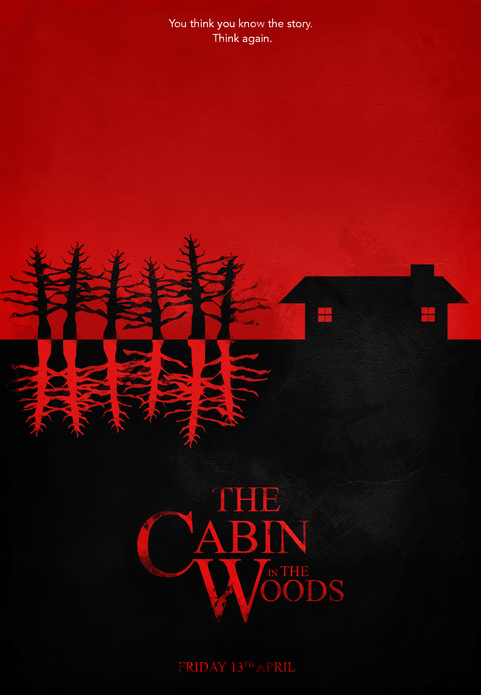 The Cabin In The Woods Minimalist By Jswoodhams On