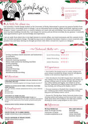 Creative Resume/CV - Jessica Parker - Fashion by JSWoodhams