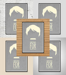 Poster Mock Up Template by JSWoodhams