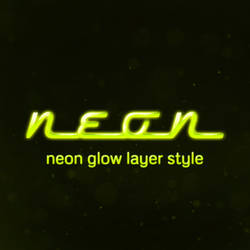 Neon Glow Photoshop Layer Style by JSWoodhams