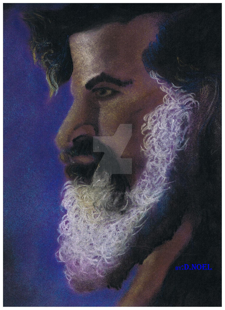 CHALK PASTEL- face of a prophet by DEANJENO--art