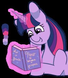 Twilight reading a book [Mlp Request] by FlamiraSplitz