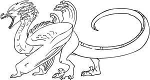 Free dragon lineart 3 [MS Paint friendly]