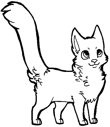 Free cat lineart [MS Paint friendly] by xSitax on DeviantArt