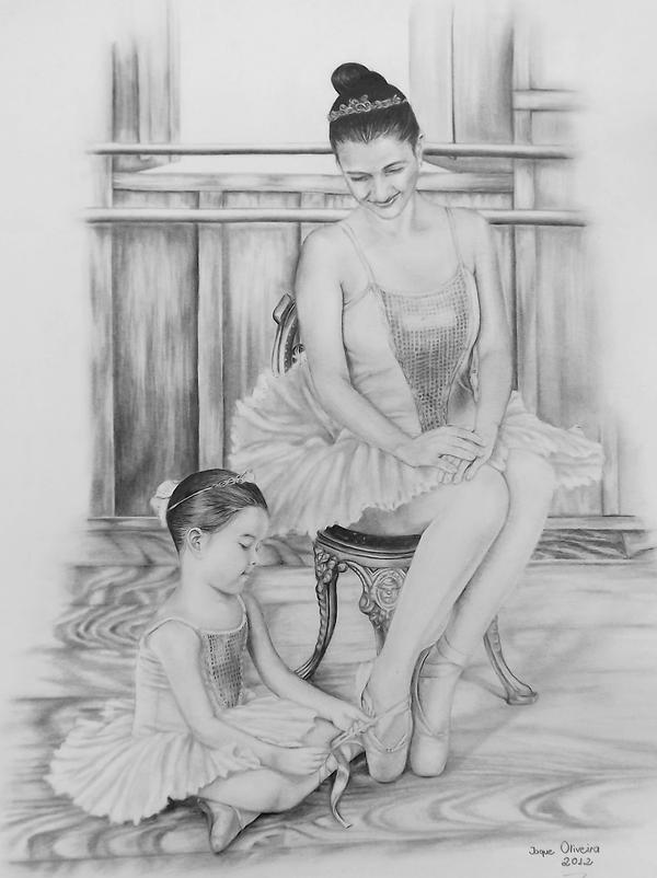 Mother and Daughter by JaqueOliveira
