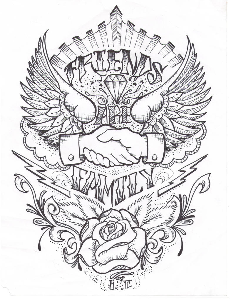 Brass Knuckles Tattoo Designs Coloring Pages