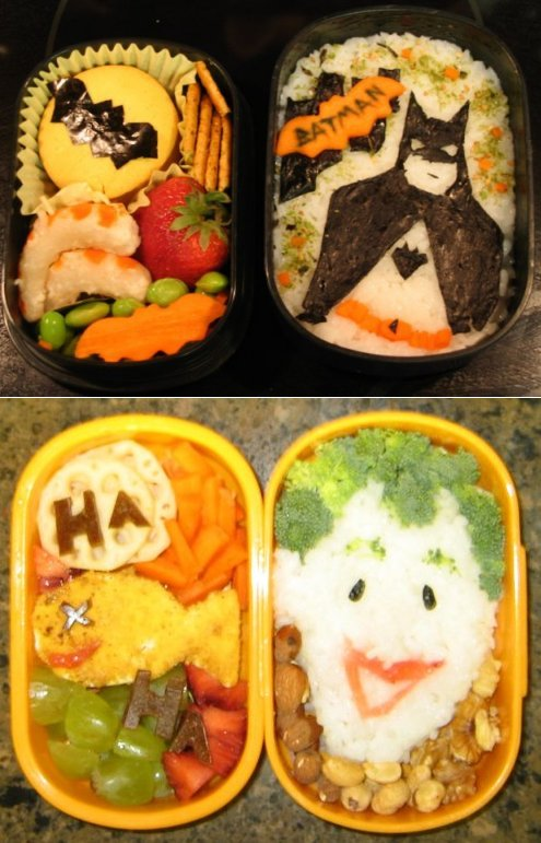 A Bat and a Clown Bento by gargoylekitty
