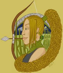 Artemis of the Bana-Mighdall by gargoylekitty