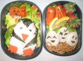 Penguin Bento by gargoylekitty