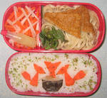 Kitsune Bento by gargoylekitty