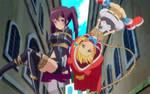 Yamaneko and Renkin tied up