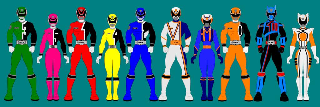 13 Power Ranger Spd Full Set By PowerRangersWorld999 On DeviantArt