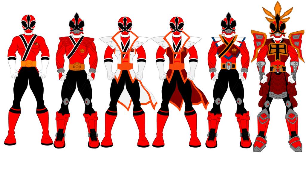 power rangers samurai red ranger evolution by