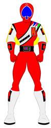 J.A.K.Q Dengekitai - Red by PowerRangersWorld999