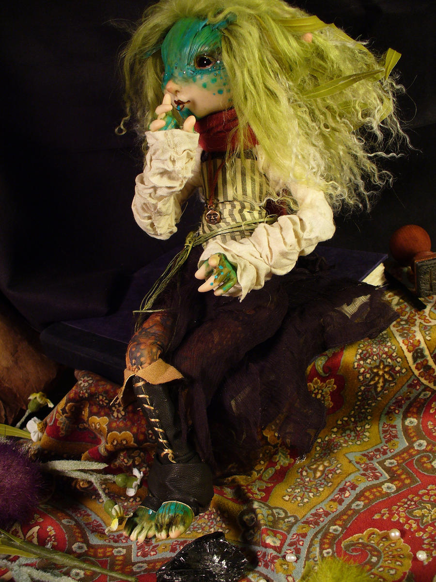 Belladonna - art doll by mammalfeathers