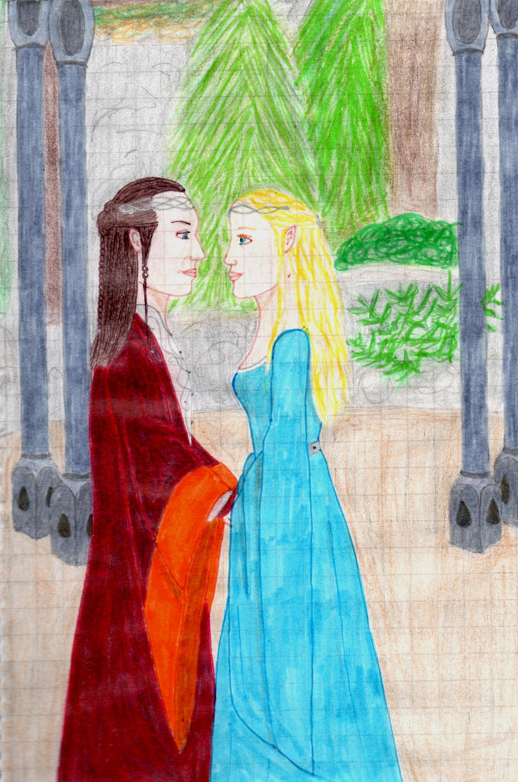 Elrond and Celebrian by Chocolat93