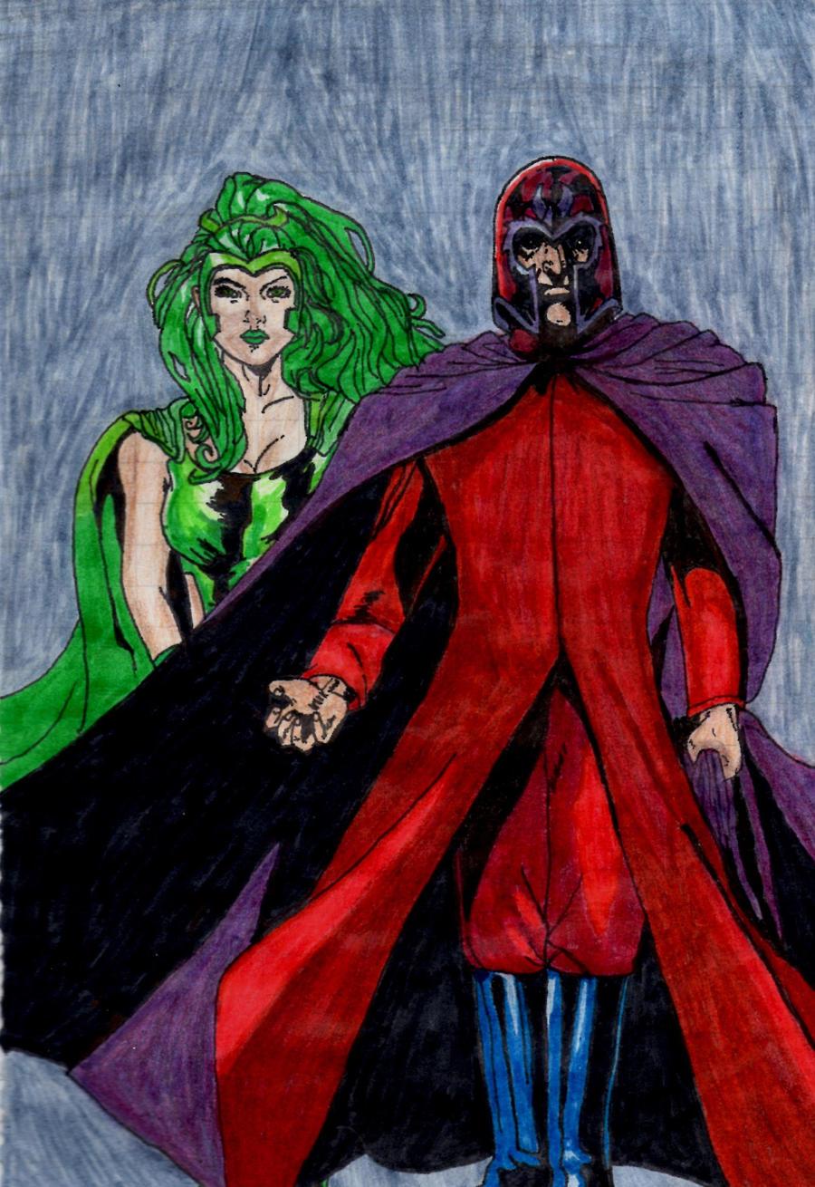 Polaris and Magneto by Chocolat93