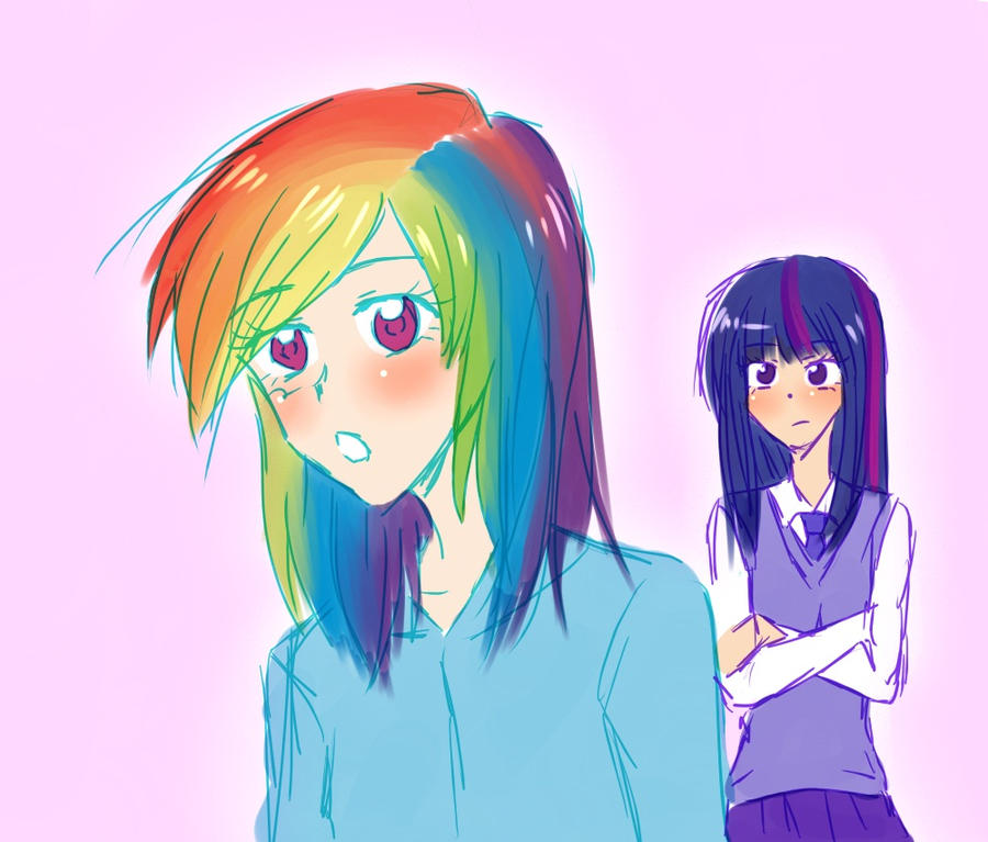 Mlp Rainbow Dash And Soarin Human