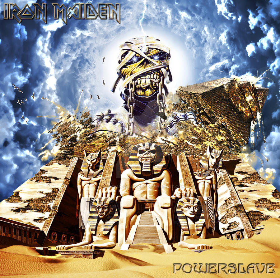 iron maiden powerslave back in time by croatiancrusader