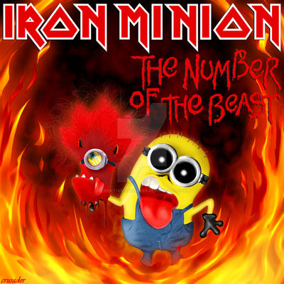 Iron Maiden Number Of The Beast Single Iron Minion - The Numb...