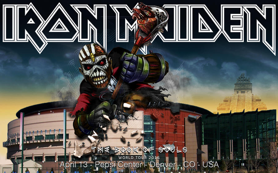 Iron Maiden - TBOS world tour 2016 - Denver - USA by croatian-crusader
