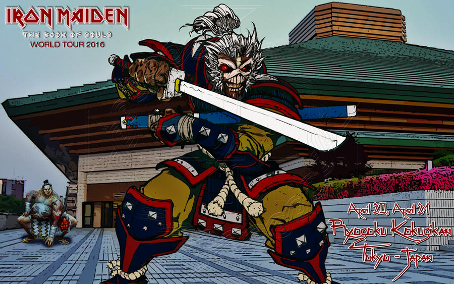 Iron Maiden - TBOS world tour 2016 - Tokyo - Japan by croatian-crusader