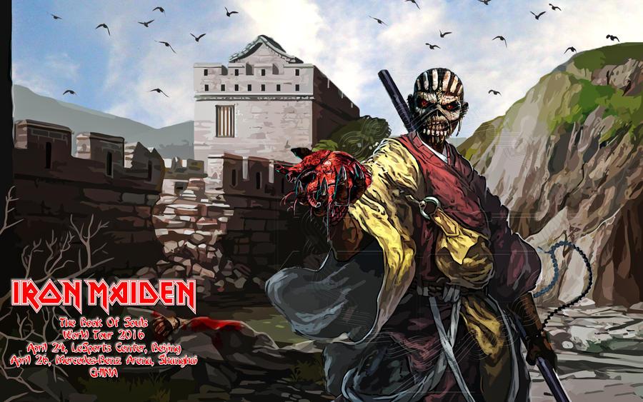 Iron Maiden - TBOS world tour 2016 - China by croatian-crusader