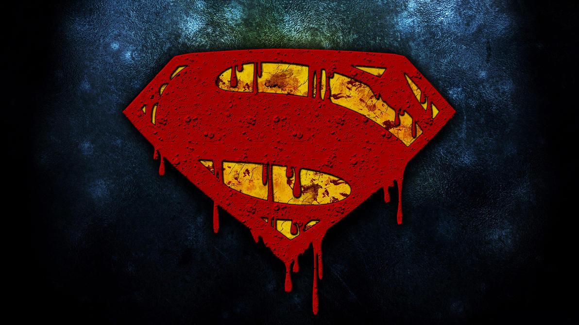 Man of Steel bloody logo by croatian-crusader