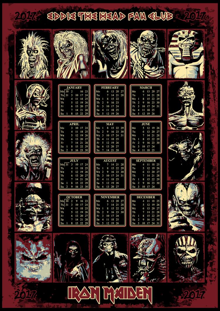 Iron Maiden 2017 Calendar by croatian-crusader