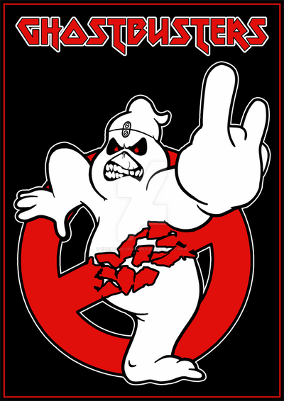 Iron Maiden Ghostusters Logo By Croatian Crusader