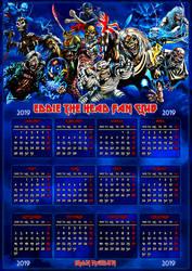 Iron Maiden / ETHFC 2019 Calendar by croatian-crusader