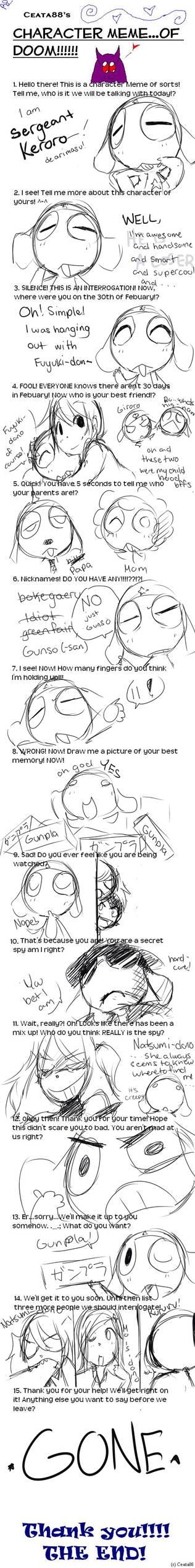 Meme Of Sorts, De Arimasu