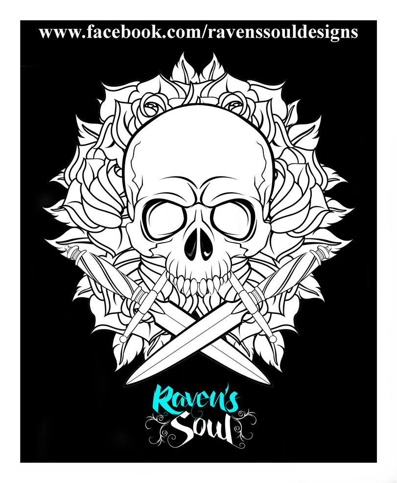 Skull and Daggers by RavensSoulDesigns
