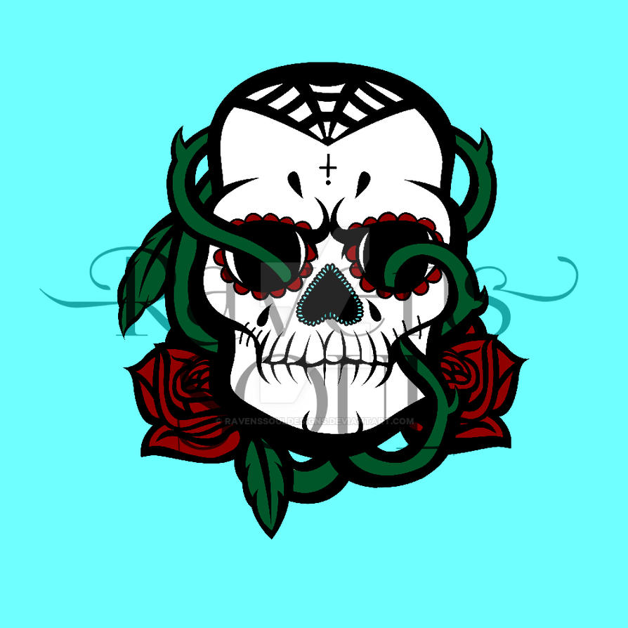 Sugar Skull by RavensSoulDesigns