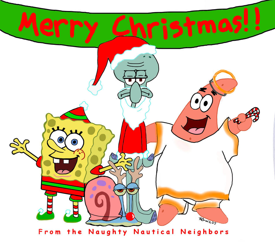 A Spongebob Christmas by missmands on DeviantArt