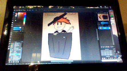 me and my art = trashhh by Oakie-Dokie