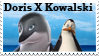 Kowalski X Doris stamp by SnowStoat