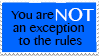 Follow the rules (stamp) by SnowStoat