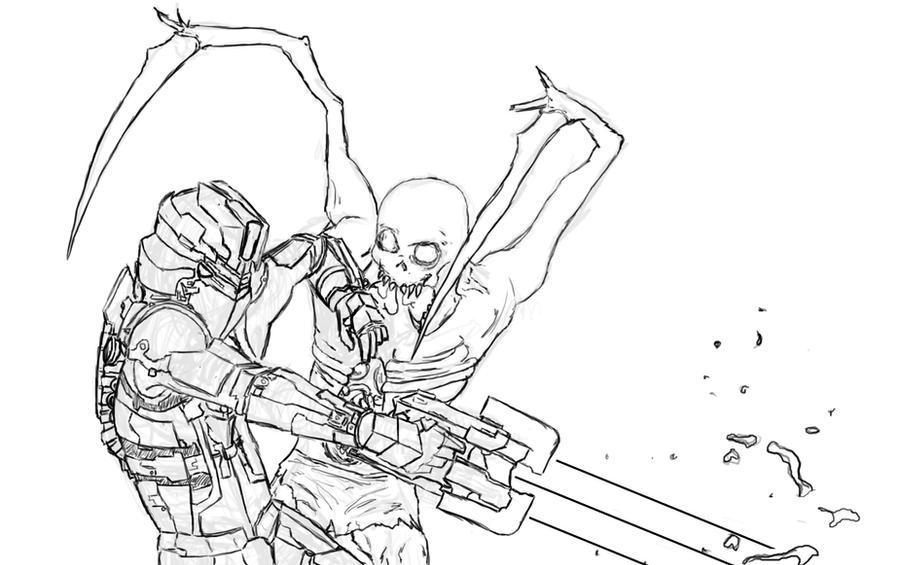 Line Art Universe : Dead space lineart by kupo on deviantart