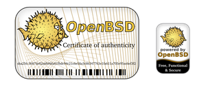OpenBSD label stickers