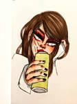 girl drinking energy
