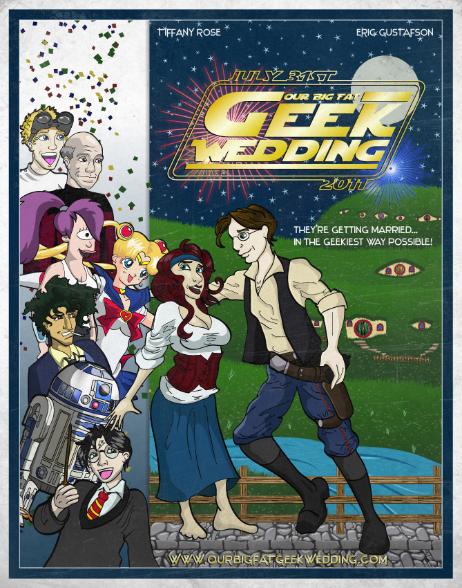 Our Big Fat Geek Wedding Invitation by meeko