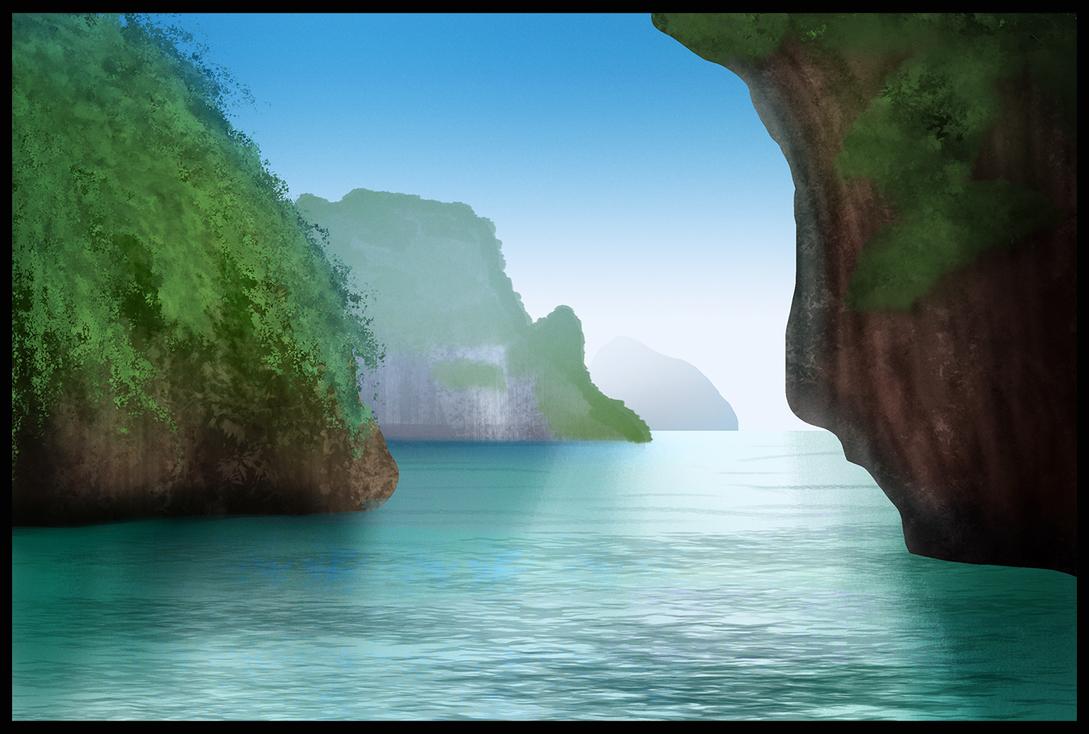 Ocean Landscape by jamheadii