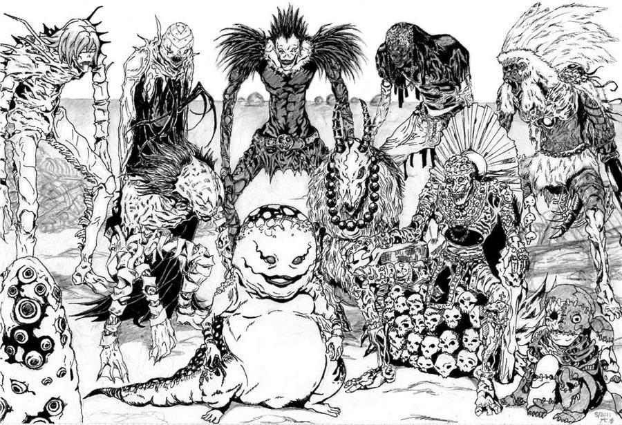 Resultado de imagen para death note manga shinigamis