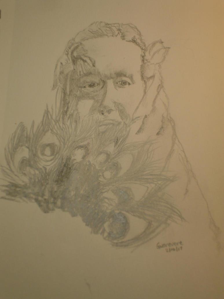 Sketch Of Manya by GrumpyOldArtist