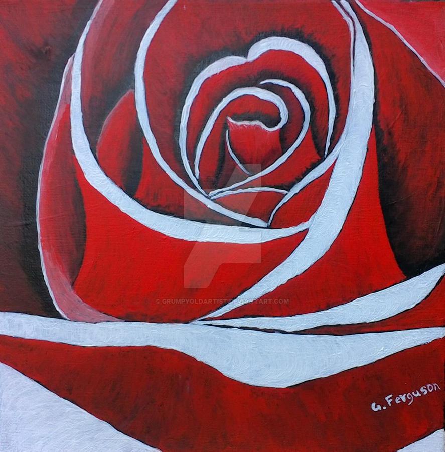 Heart of a Rose first draft by GrumpyOldArtist