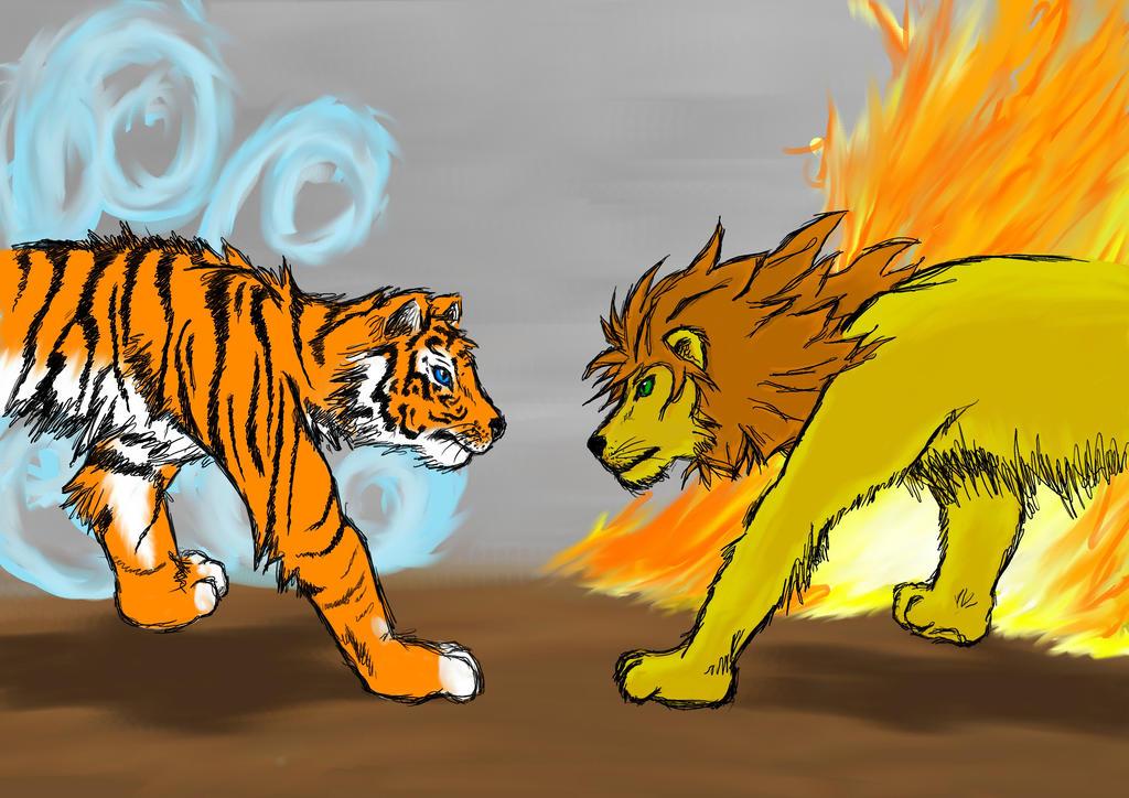 Tiger Vs Lion By Mrandmrsfoster Deviantart – Dibujos Para Colorear